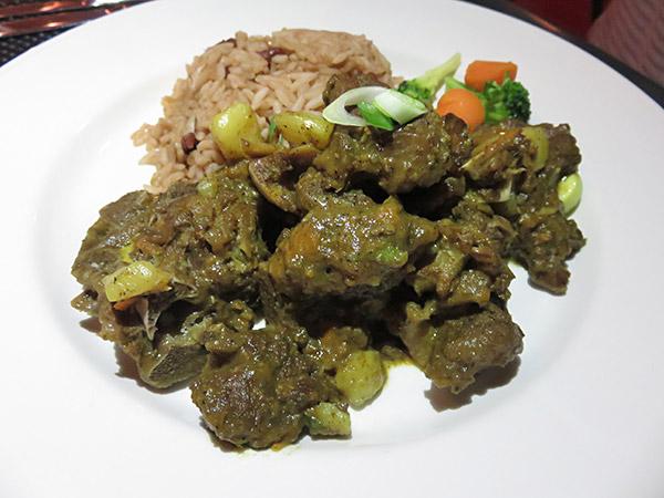 stewed goat from sarjais restaurant in anguilla