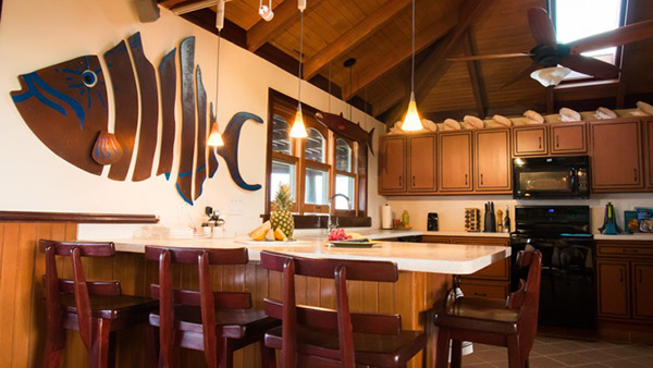 gourmet kitchen at wesley house villa rental
