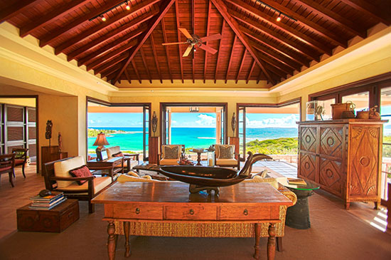 bird of paradise villa great room views