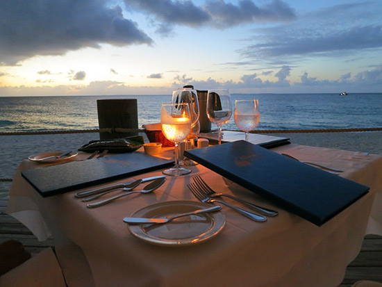 beach side and candle lit dinners in anguilla