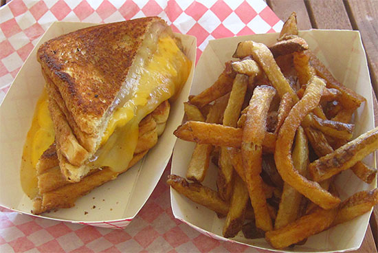 Anguilla grilled cheese