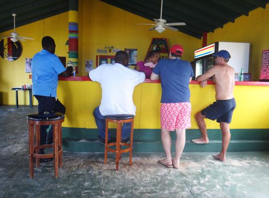 the bar at gwens reggae grill