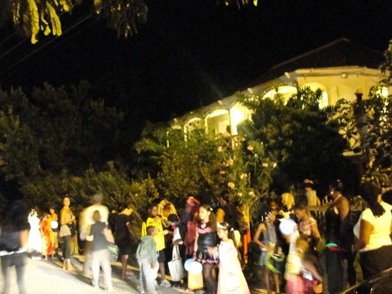 Halloween in Anguilla, October in Anguilla, trick-or-treat, Sandy Ground, Sir Emile Gumbs
