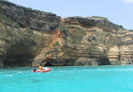 high cliffs in west end anguilla