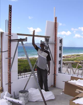 Our anguilla home 39 s second floor icf walls for Icf floor