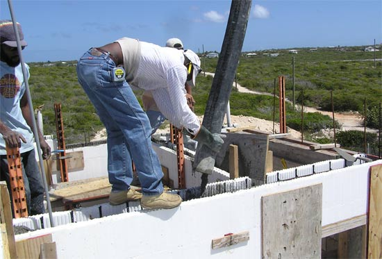 Our Anguilla Home 39 S Second Floor Icf Walls