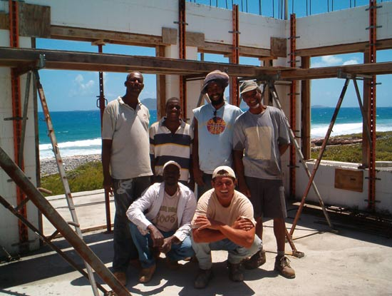 anguilla icf concrete pour