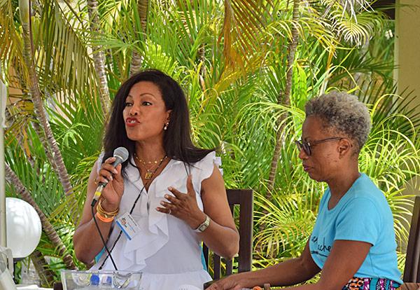 Ilyasah Shabazz at lit fest anguilla 2017