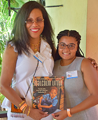 Ilyasah Shabazz and cassie lewis at lit fest anguilla 2017