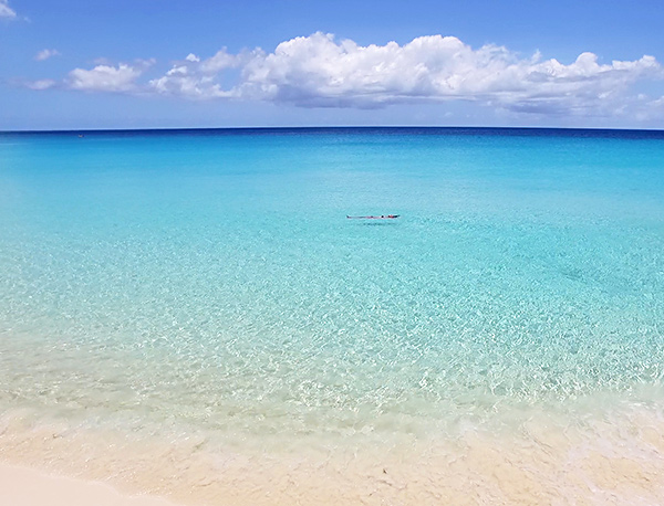 blue waters at tranquility beach anguilla