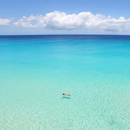 infinite blue waters of meads bay anguilla
