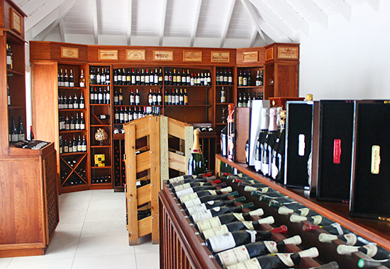 inside the grands vins de france wine shop