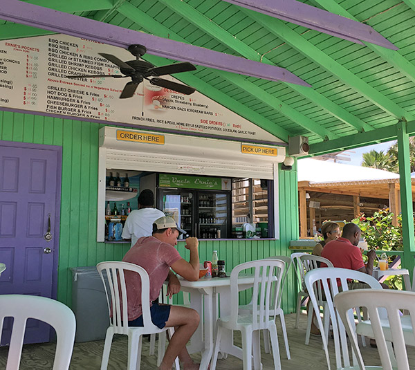 inside uncle ernies beach bar