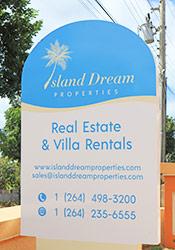 island dream properties sign anguilla