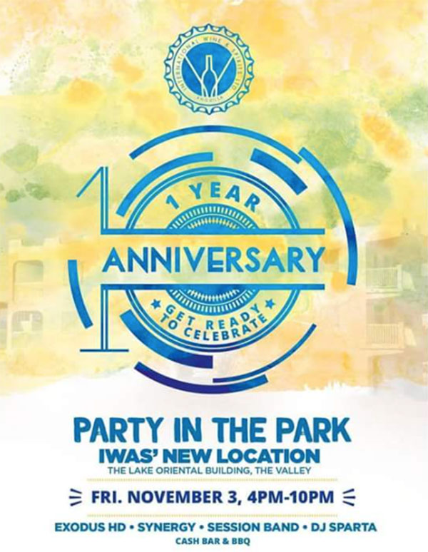 iwas one year anniversary party