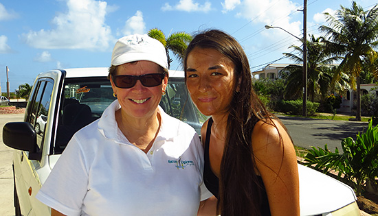 with jackie cestero the owner of nature explorers anguilla