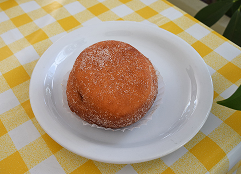 jam doughnut at village bakehouse