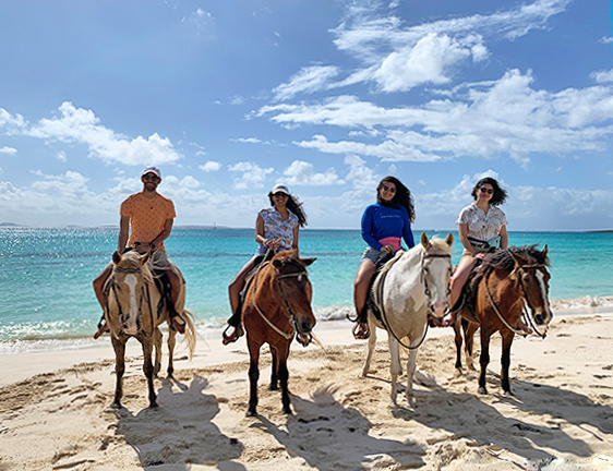Jibri, Jasmin, Louise and Isabel anguilla seaside stables