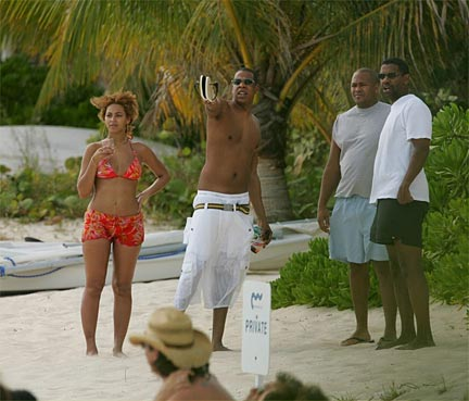 Jay-Z and Beyonce on Anguilla Photo From: Beyonceworld.net