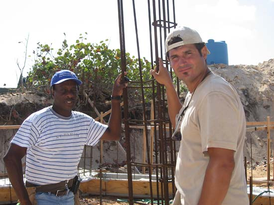 Anguilla builders Jim and Mike