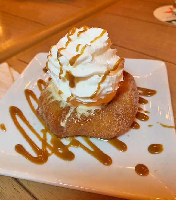 Warm johnny cake sundae at SandBar