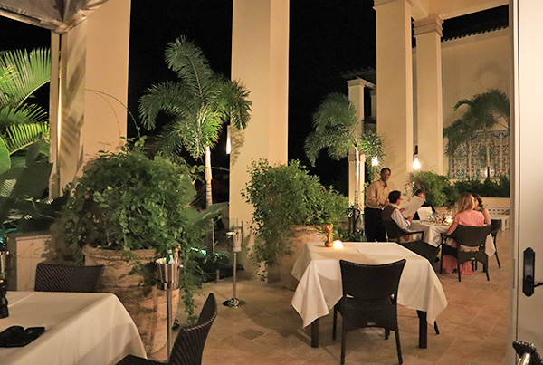 the terrace at julians tropical french bistro at quintessence