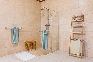 the walk in shower at junior suite anguilla