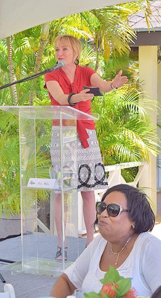 kate white at lit fest anguilla