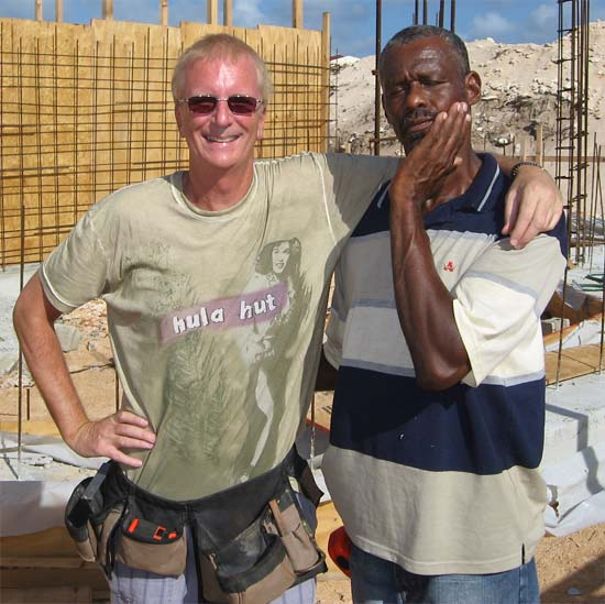 Anguilla builders Ken and Curtis