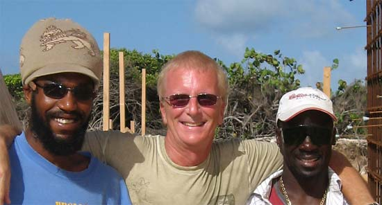 Anguilla builders Jason and Toby