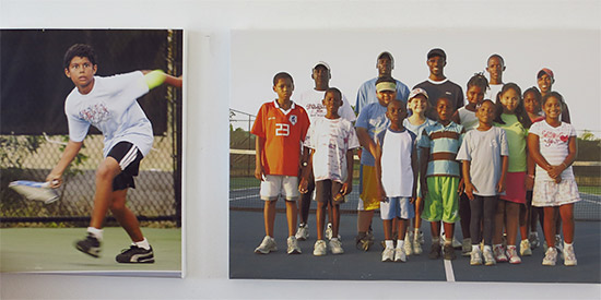 kids at the anguilla tennis academy