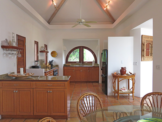 kitchen in beach palm villa anguilla