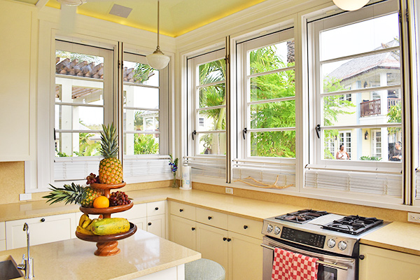 Kitchen in Grand Villa at Santosha Villa Estate on Long Bay