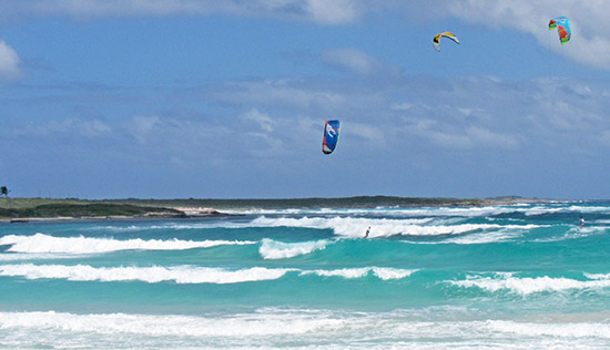 kitesurfing on savannah bay anguilla
