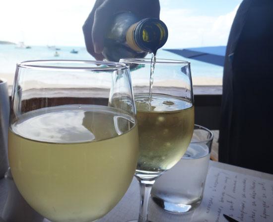 chardonnay at la villa restaurant