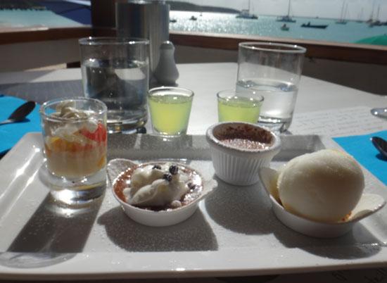 gourmandise dessert at la villa anguilla