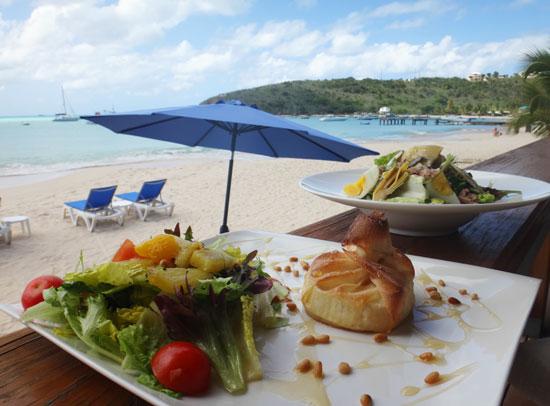 la villa restaurant on sandy ground