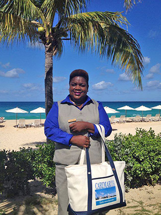 laverne with carimar tote bags
