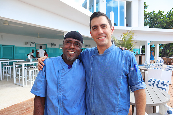 Chef Micky & Patricio at leons