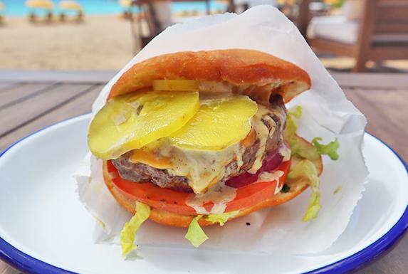 Johnny Cake Jerk Burger at leons