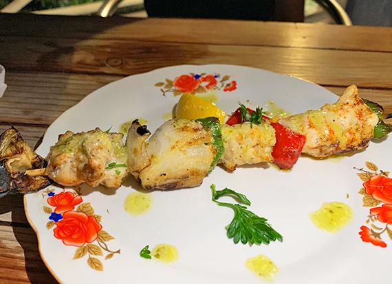 crayfish kebabs at lime keel house