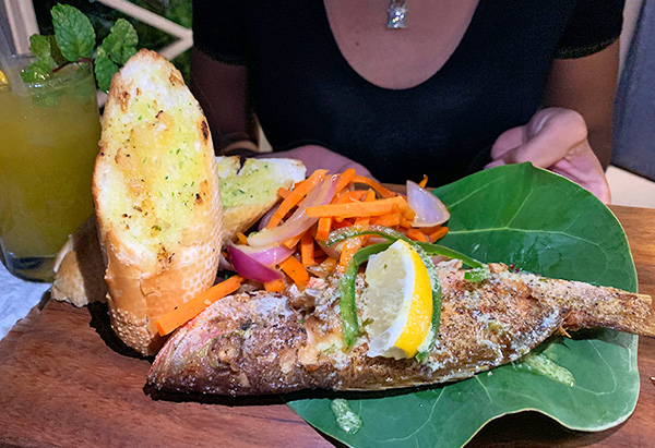 whole snapper at lime keel house