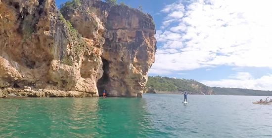 enormous cliffsides at little bay