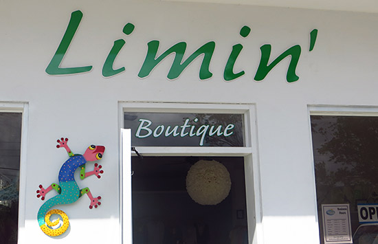 entrance at limin' boutique