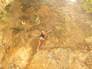 Anguilla beaches, Little Bay, climb, rope