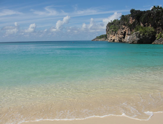 Anguilla beaches, Little Bay, the beach