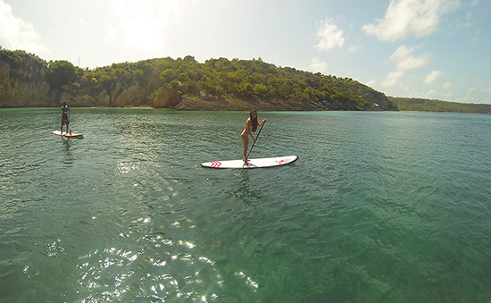 stand up paddleboarding in anguilla small version
