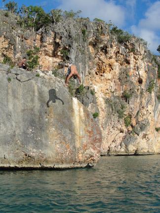 Little Bay rock jump Anguilla