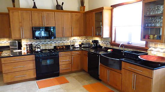 modern kitchen inside little butterfly