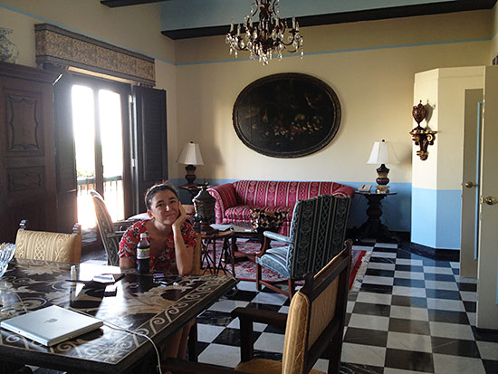 living room at gloria vanderbilt